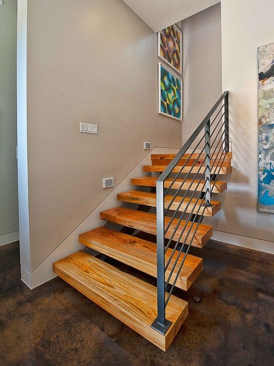 Bowman Stairs   Contemporary   Staircase   Austin   By Cornerstone  Architects   Stained Concrete Floor.