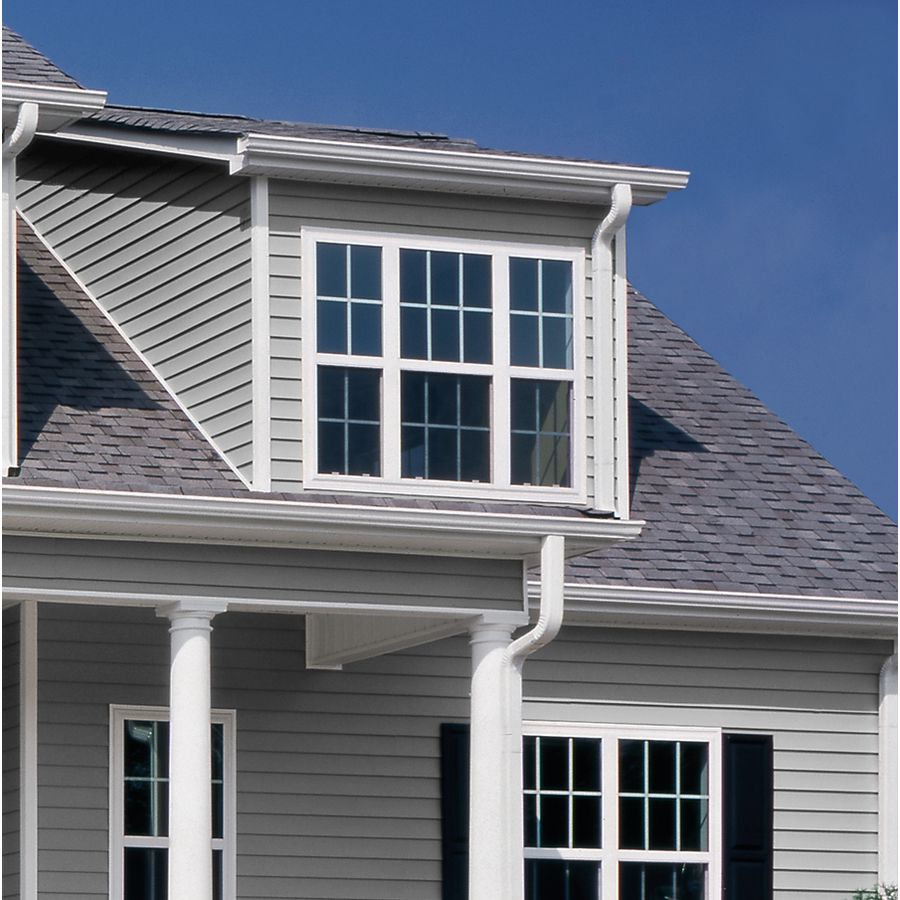 Georgia Pacific Vinyl Siding Vision Pro 10 In X 144 Gray