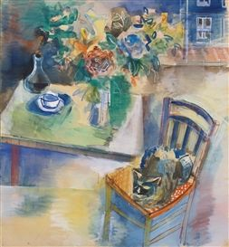 Artwork by Jean Dufy, SIESTE DU CHAT DANS L\'ATELIER, Made of ...
