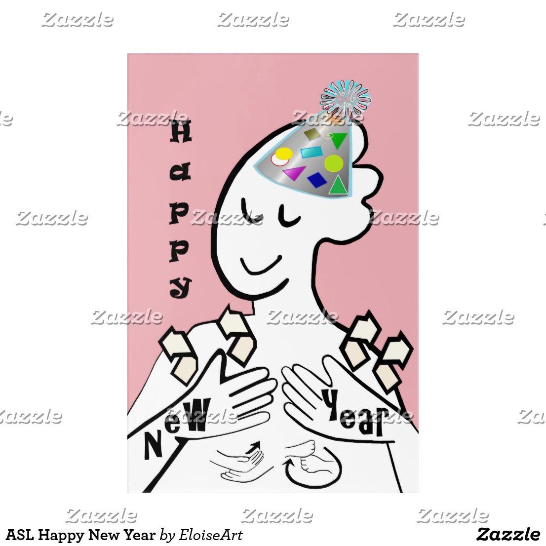 ASL Happy New Year Acrylic Print Acrylic