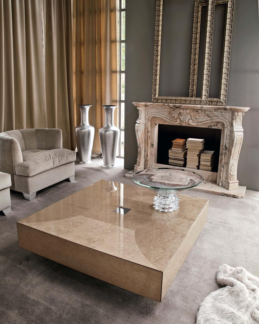 Giorgio Collection An Exclusive Fireplace Inevitably Draws Attention And Serves As A Focal Point In