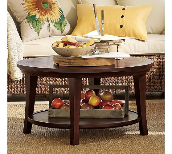 Metropolitan Round Coffee Table Pottery Barn CASA Living - Pottery barn metropolitan coffee table