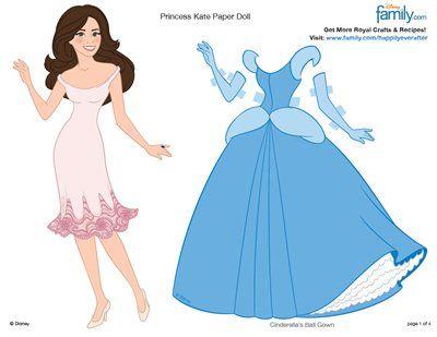 Princess Kate Printable Paper Doll Princess Paper Dolls Princess Paper Dolls Printable Paper Dolls Printable