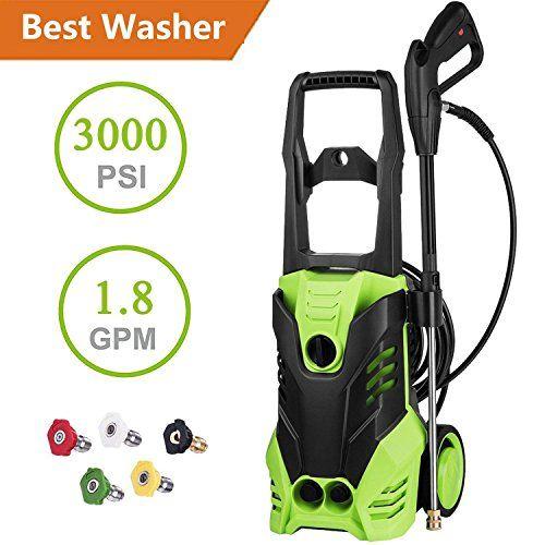 1800w Power 3000 Pressure 3000 PSI 1.8GPM Electric Pressure Washer W//Nozzles