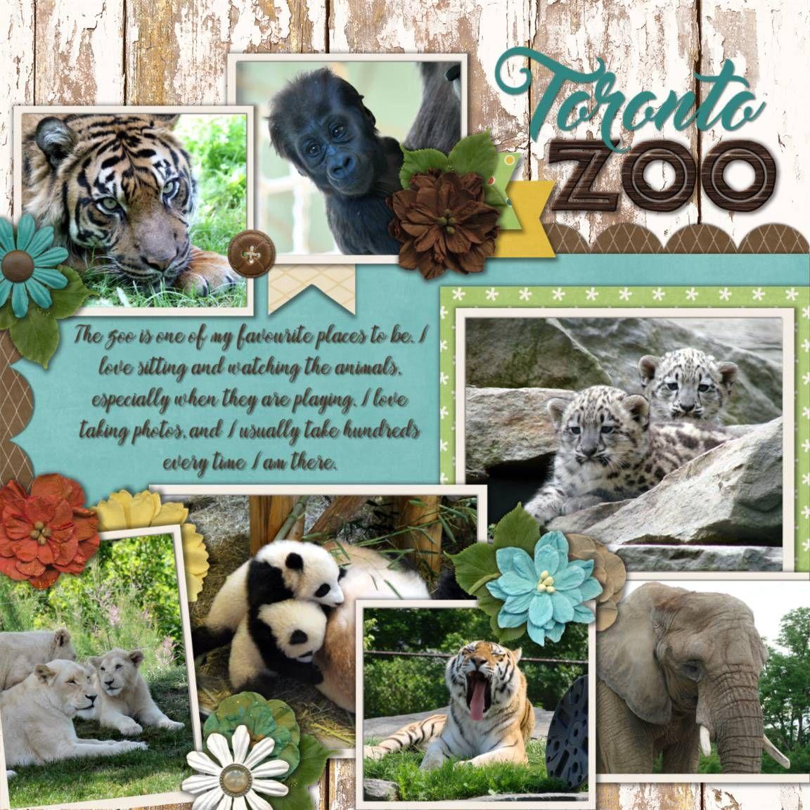 Zoo animal scrapbook ideas - Connie Prince Wild Things Scrapbook Com