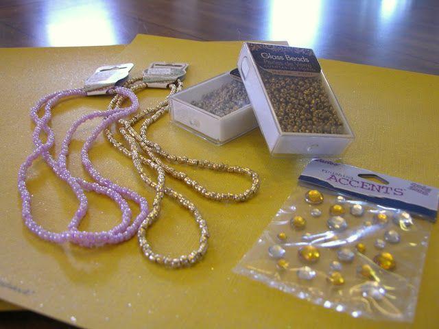 Rapunzel Party necklace craft