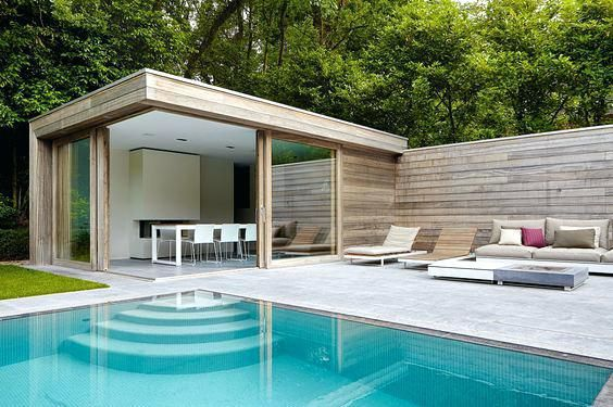 pool house piscine comment amacnager son pool house qcb id e ext rieur edicula arquitetura. Black Bedroom Furniture Sets. Home Design Ideas