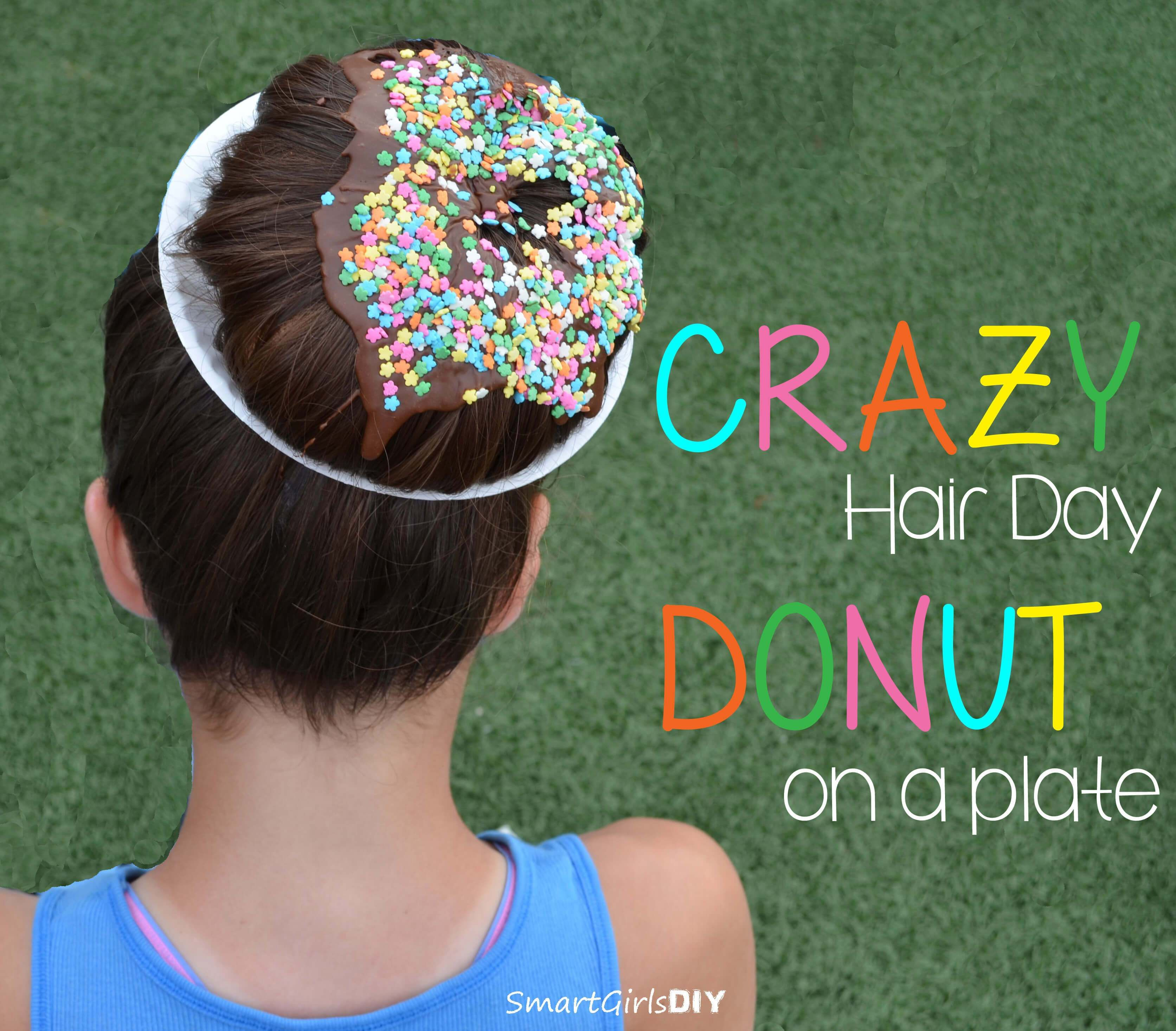 Crazy hair day donut on a plate smart girls diy do it crazy hair day donut on a plate smart girls diy solutioingenieria Image collections