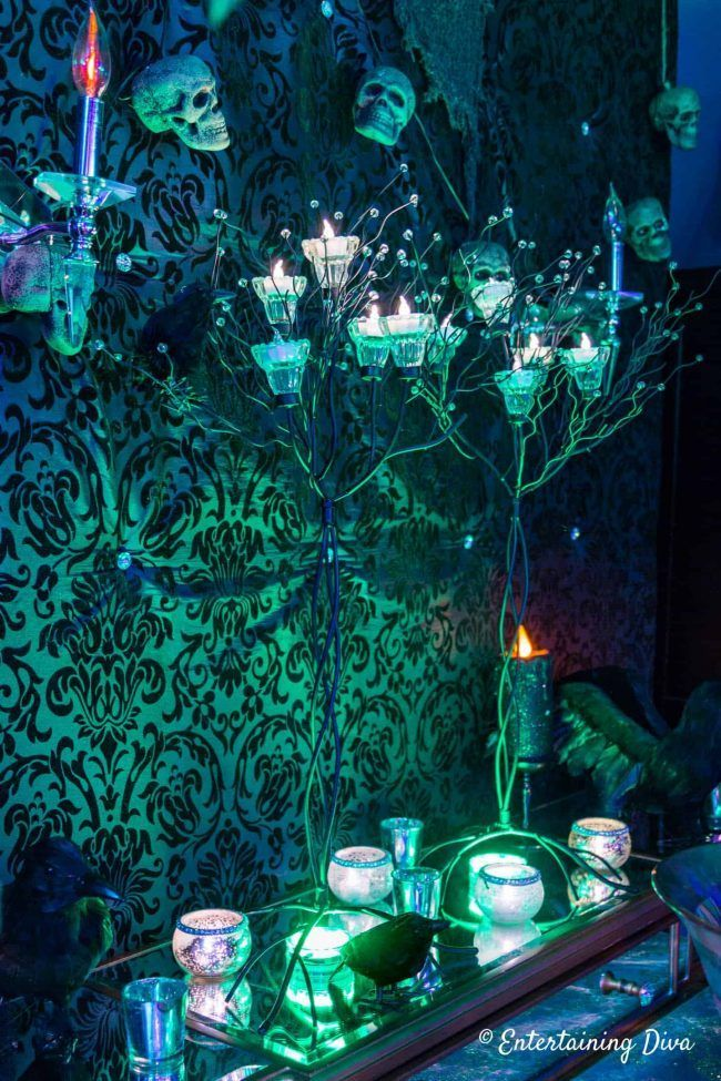 Want to haunt your house for Halloween? Learn the easiest indoor Halloween lighting effects and ideas that will make your house look spooky. #halloweenobsession #spooky #hauntedhouse #halloweendecor #halloween #halloweenlighting
