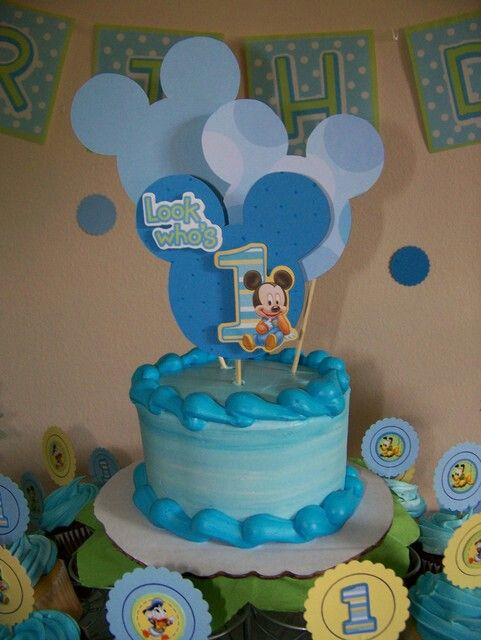 baby mickey mouse 1st birthday party cake | baby's 1st birthday