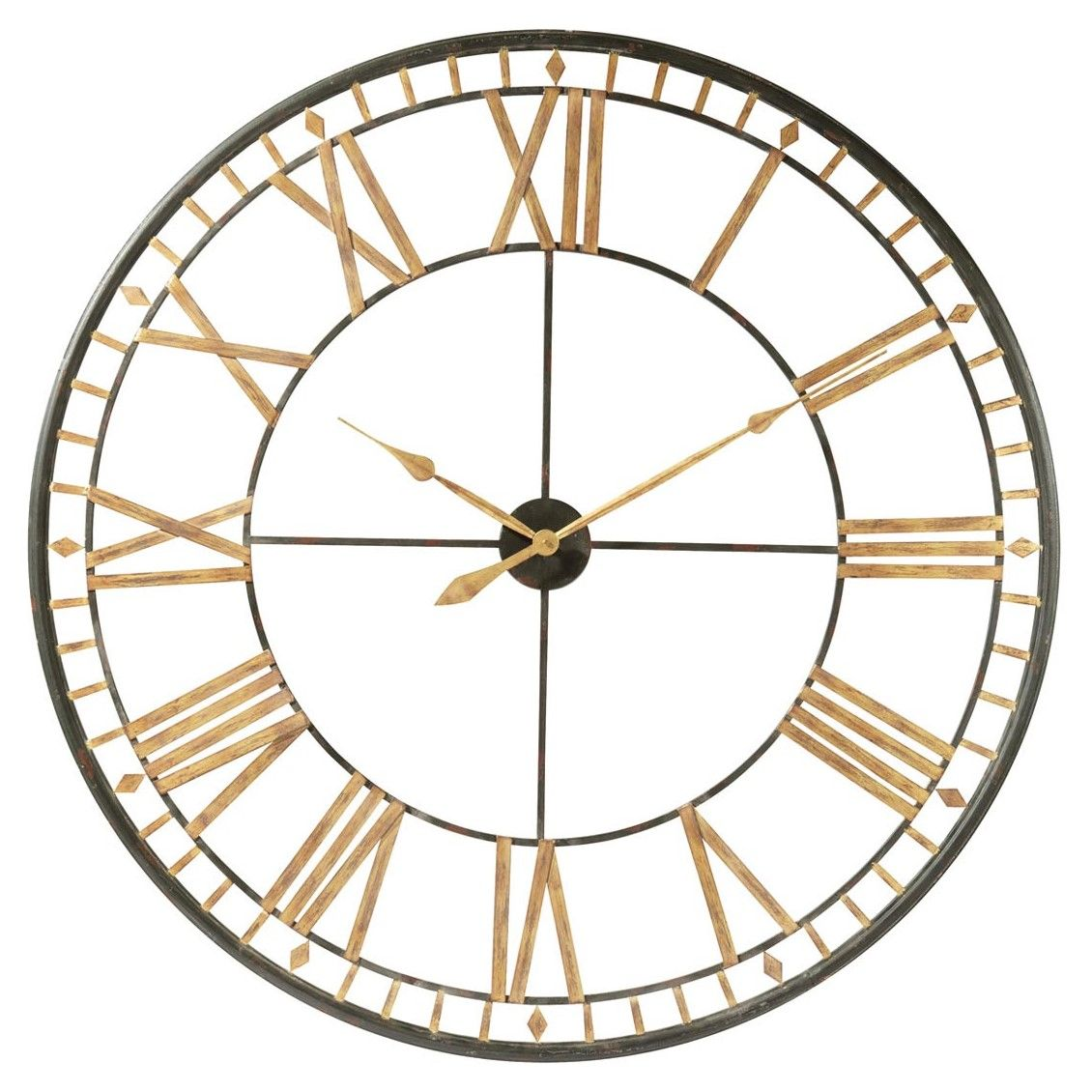 La Valliere Black Metal Clock Diameter 120cm In 2020 Metal Clock Metal Wall Clock Oversized Wall Clock