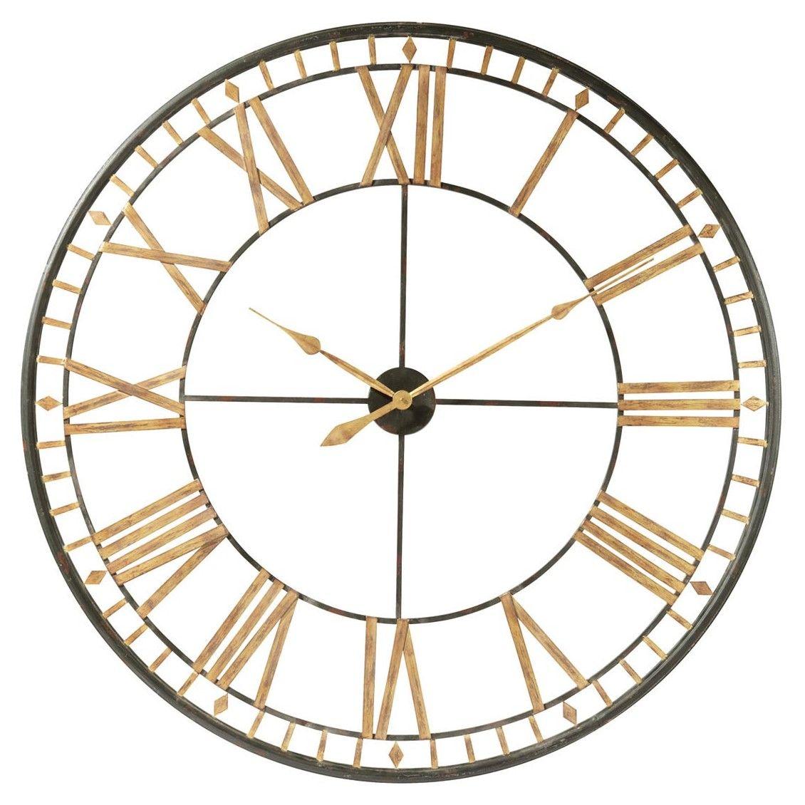 La Valliere Black Metal Clock Diameter 120cm In 2020 Metal Clock Metal Wall Clock Oversized Wall Clock