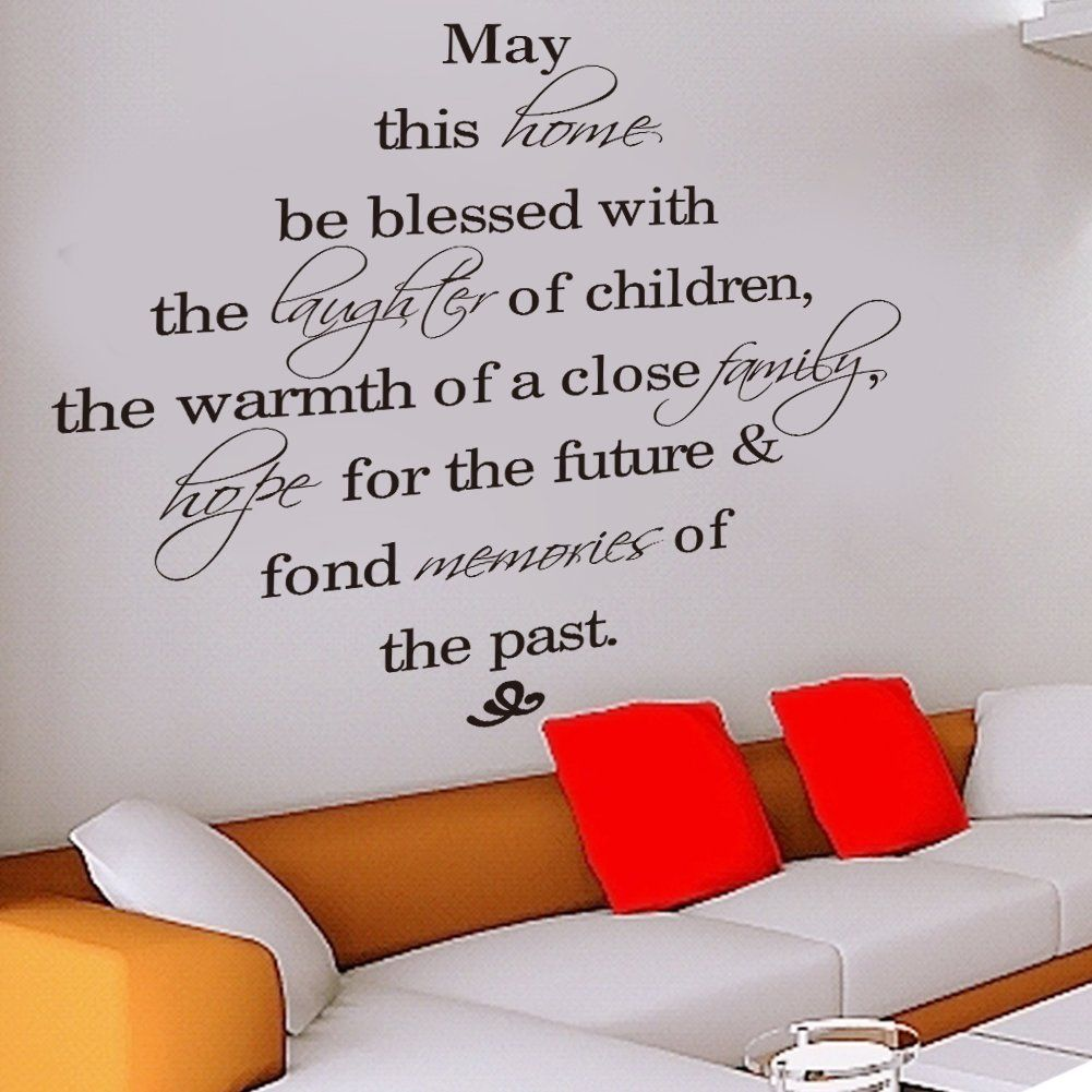 may this family be blessed wall decal sticker quote b amazon co