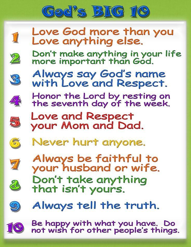 10 Commandments Children S Ministry 10 Commandments Ten