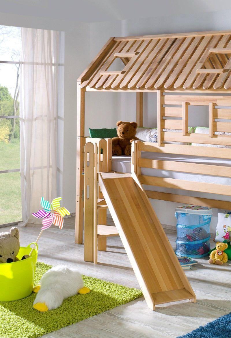 Hochbett Tom's Hütte, 90 x 200 Ein Traum aller Kinder ist