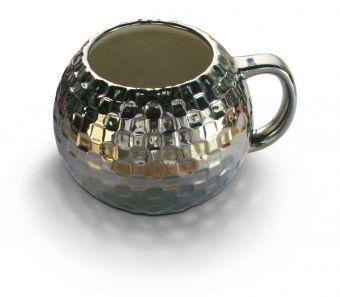 0,5 Liter Becher für Partyhelden - Discokugel Kaffee-Becher  - via http://shop.erfinderladen.com