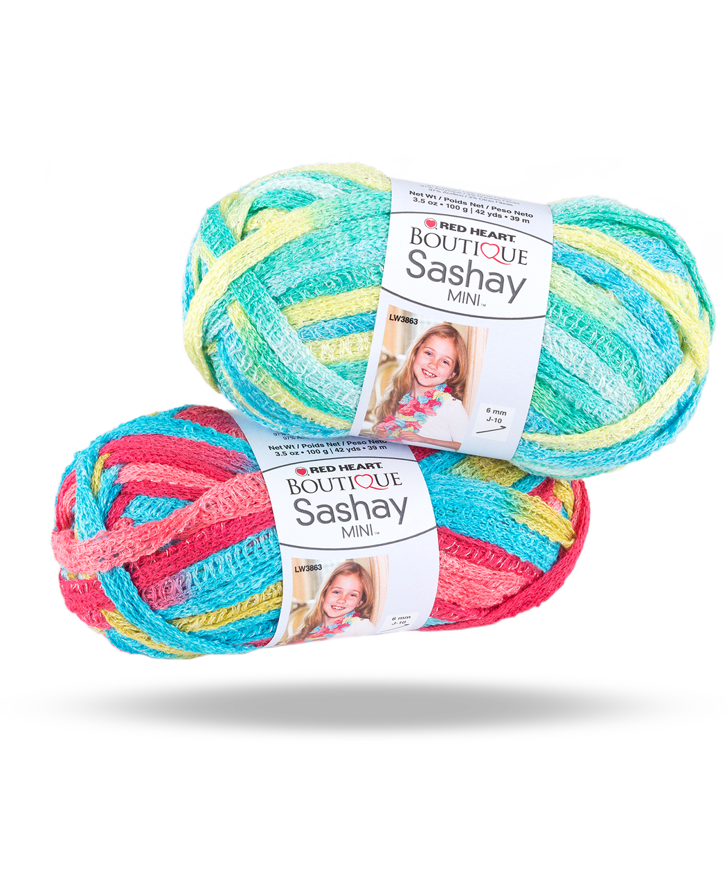 Boutique Sashay Mini Yarn | Red Heart New for kids - I made two ...