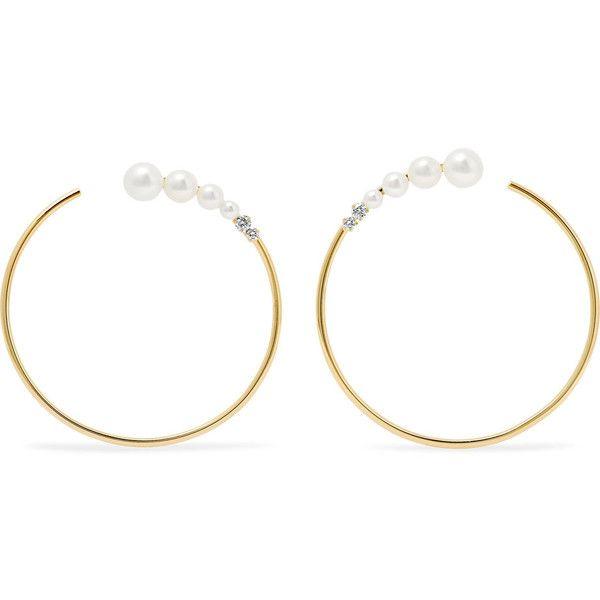 Jemma Wynne 18-karat Gold, Diamond And Freshwater Pearl Earrings