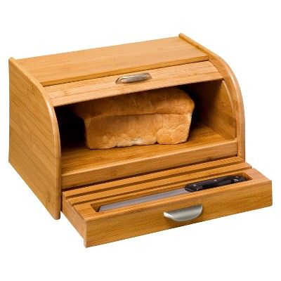 Target Bread Box Interesting Honeycando Bamboo Green Bread Box  Bamboo  Bread Boxes Honey Decorating Inspiration