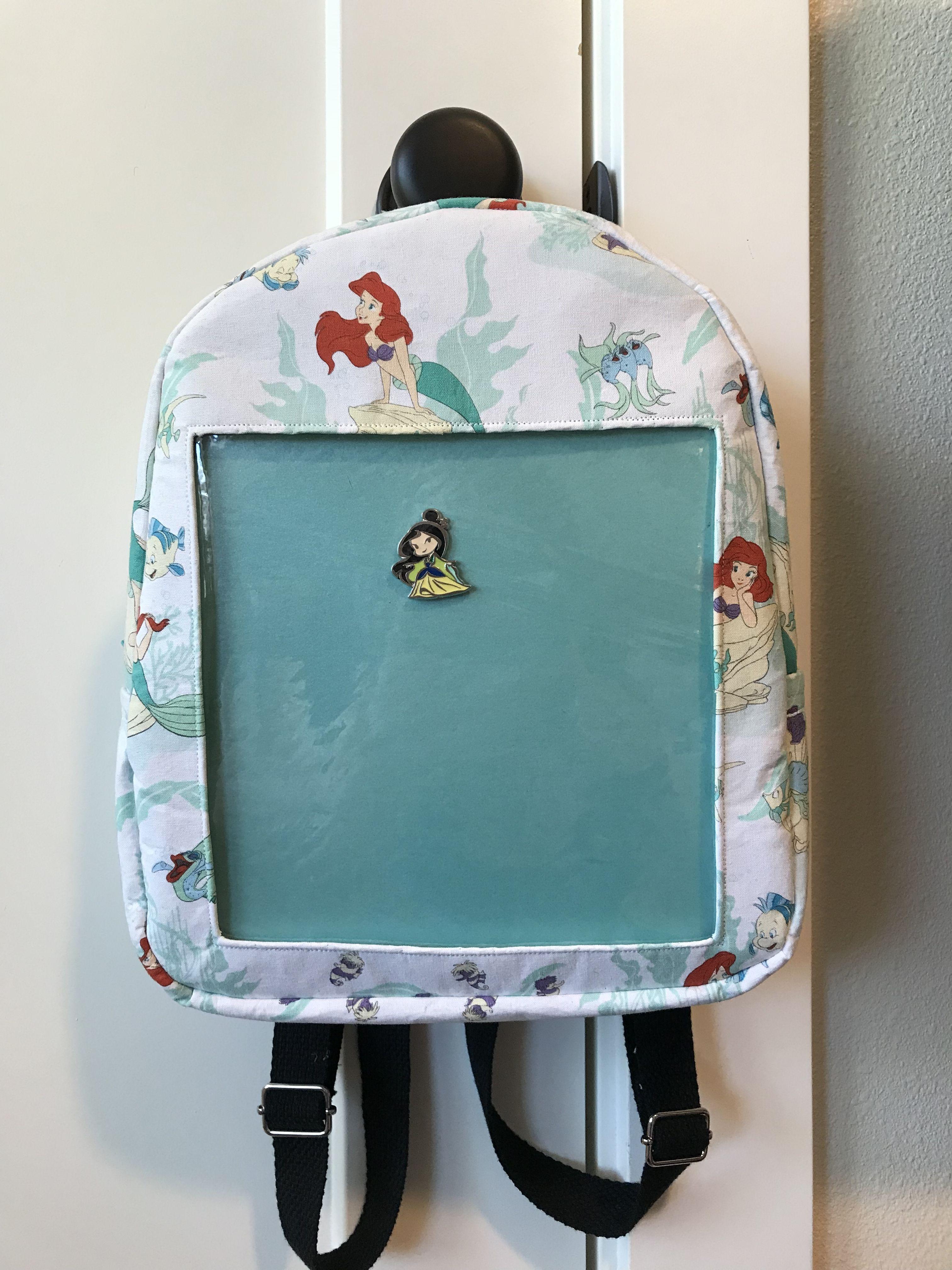 97f4e93ec Custom Disney Pin Display Backpack (The Little Mermaid)   Finished ...