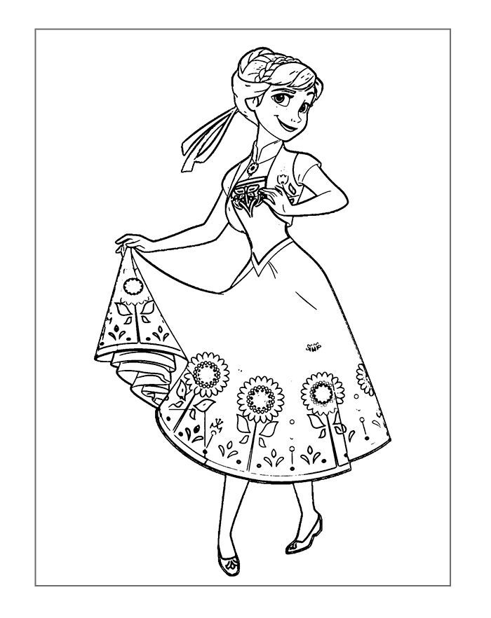 Frozen Coloring Page Image