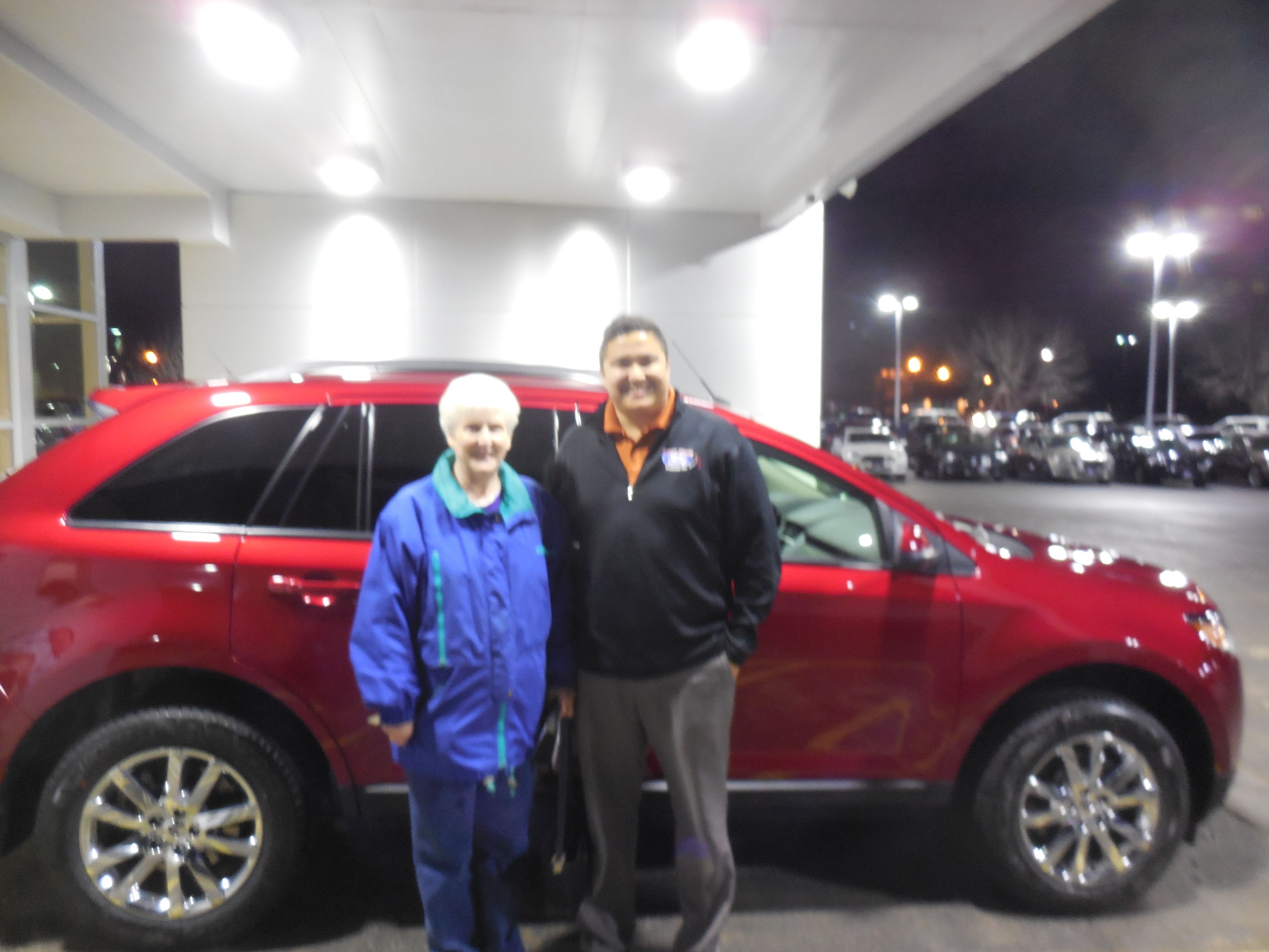 Matt Williams and the rest of us here at Court Street Ford would like to say congratulations to Glenda Eiben of Bradley on the purchase of her 2014 Ford Edge. Thank you for your business, Glenda!
