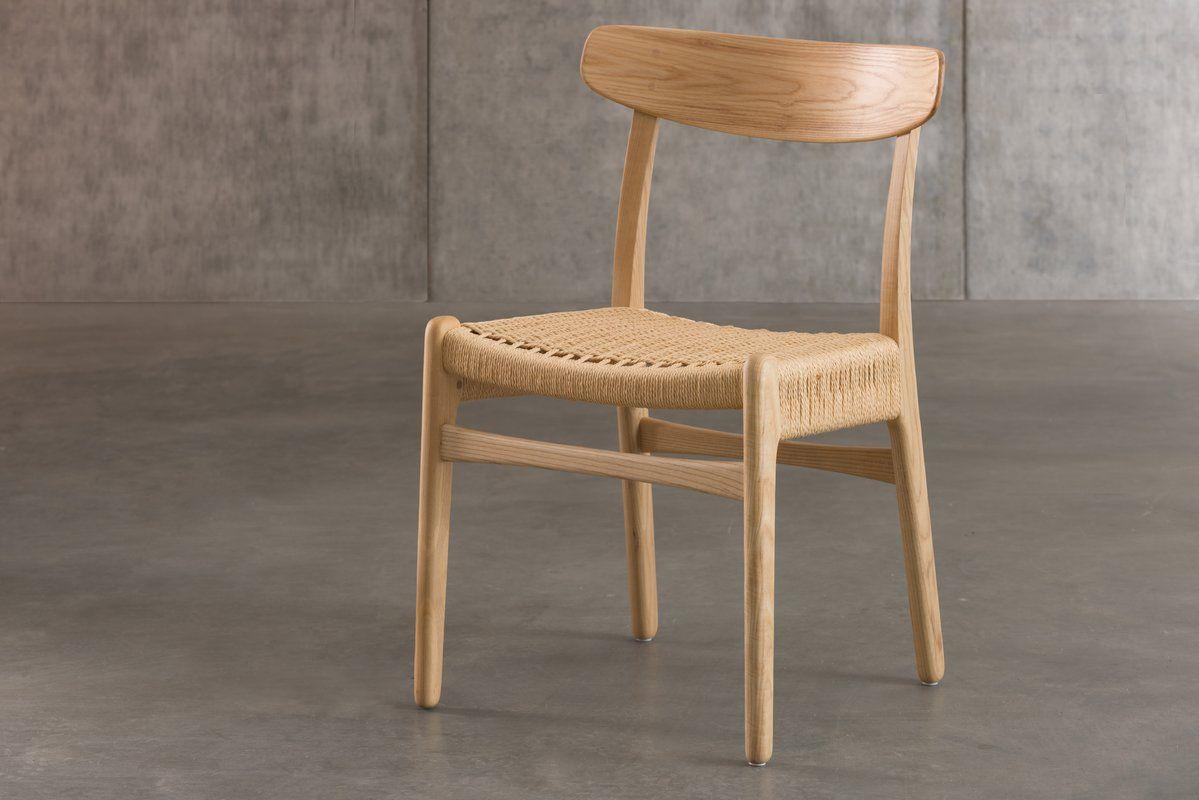 Langley Street Berke Woven Dining Chair Wayfair Solid Wood Dining Chairs Dining Chairs Dining Room Contemporary