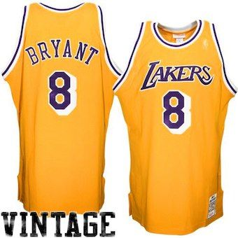 Mitchell   Ness Kobe Bryant Los Angeles Lakers 1996-1997 Hardwood Classics  Throwback Authentic Home Jersey - Gold 4da6874f5