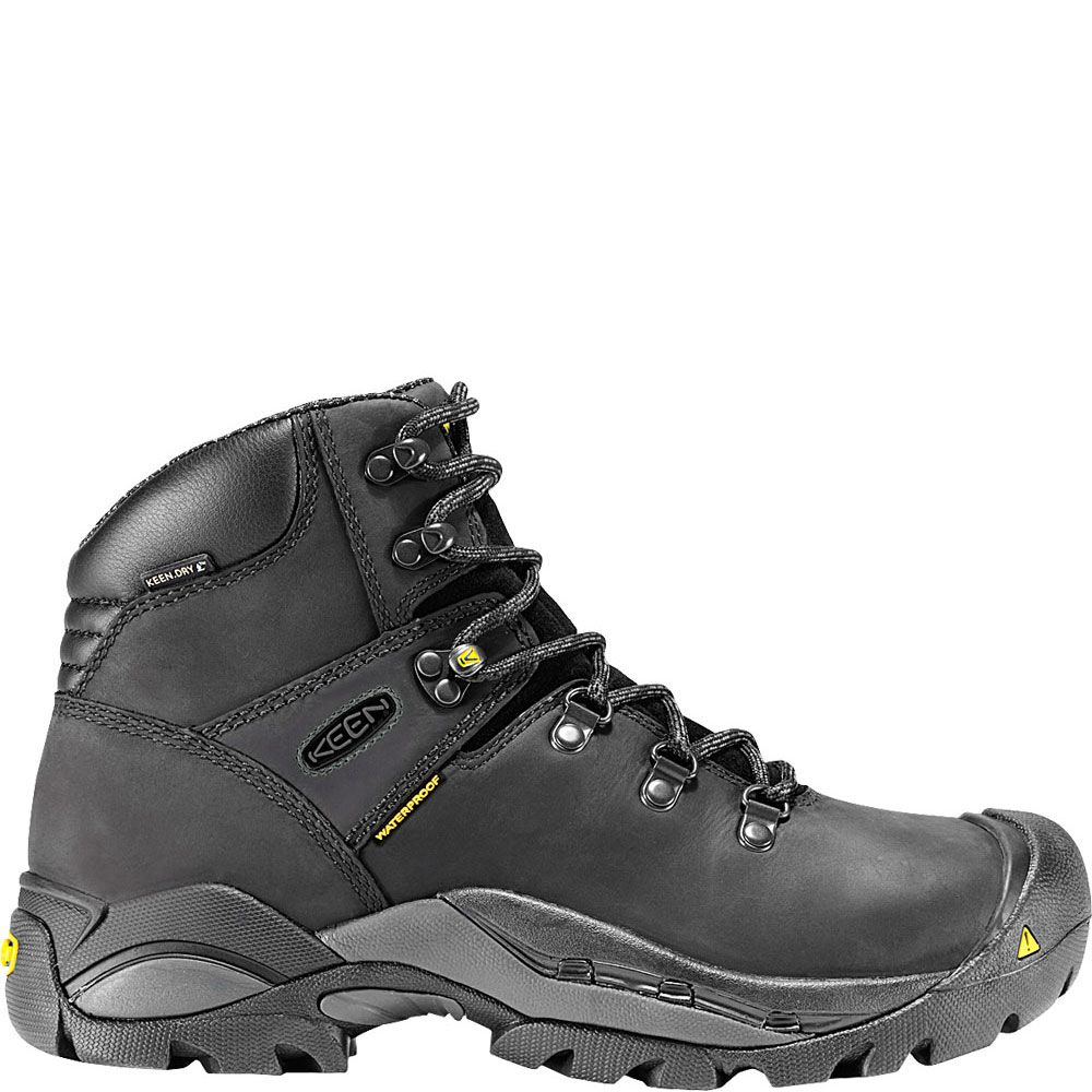 1007028 KEEN Men's Cleveland Safety Boots Black Boots