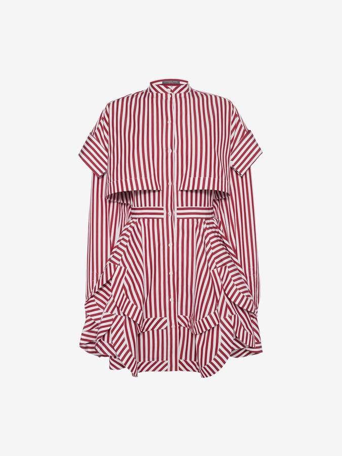 f0915ac0394 Alexander McQueen Deconstructed Mini Shirt Dress