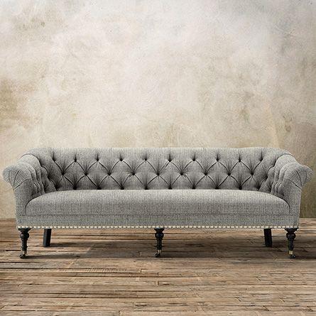 Tangier 88 Tufted Upholstered Sofa In Avanti Deer Trail Arhaus Furniture