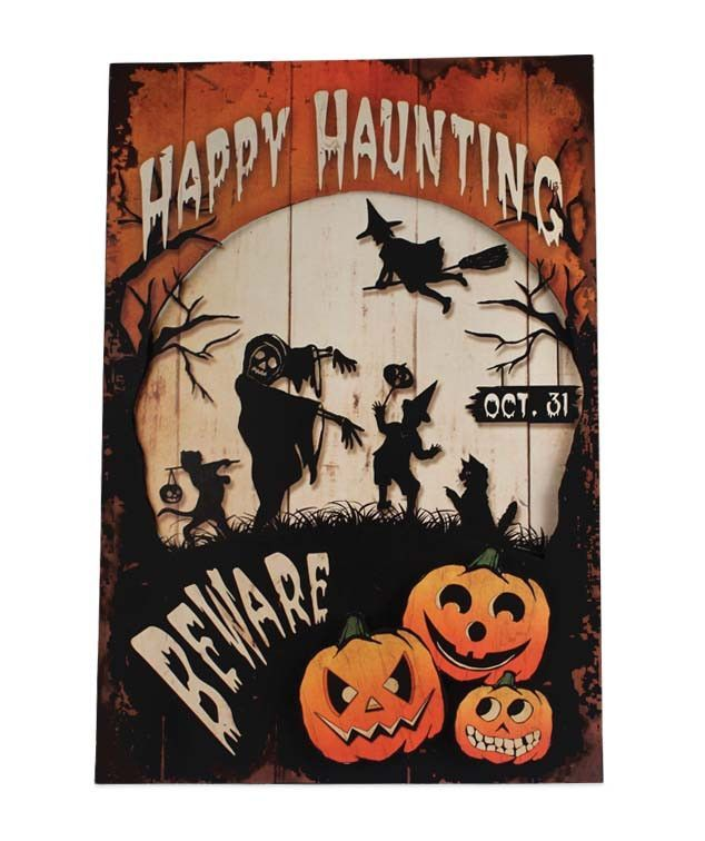 Happy Halloween Tin Sign - Bethany Lowe from TheHolidayBarn - lowes halloween