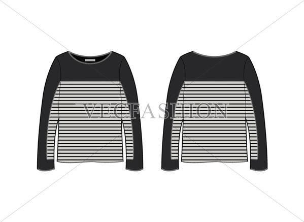 A fashion statement template designed for Long Sleeve Tunic - statement template