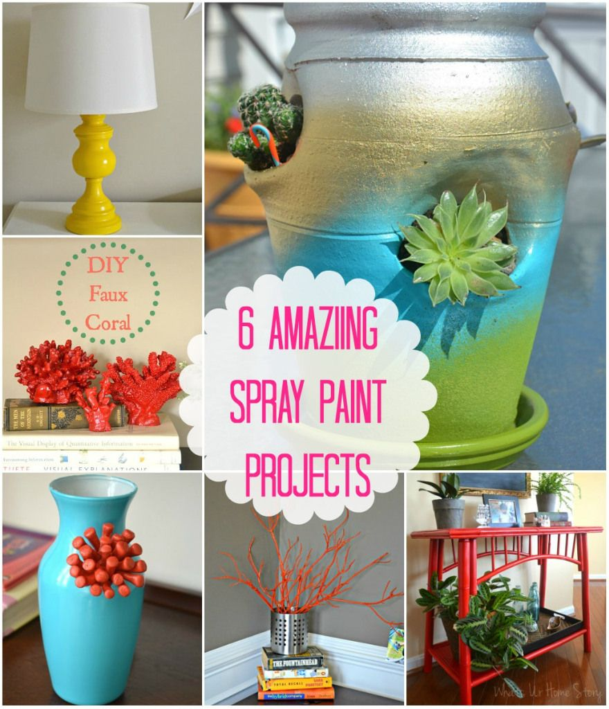 6 awesome spray paint projects diy home projects spray. Black Bedroom Furniture Sets. Home Design Ideas