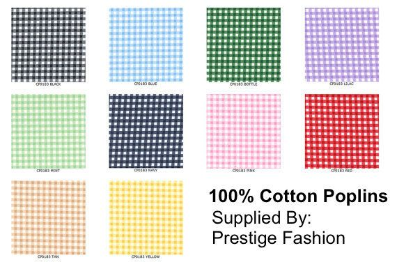 """Rose & Hubble 1/8"""" COTTON Poplin Tiny Gingham checks Fabric kids crafts, baby cot, Table Runner bunting Dress Sewing dress FABRIC - Yardage"""