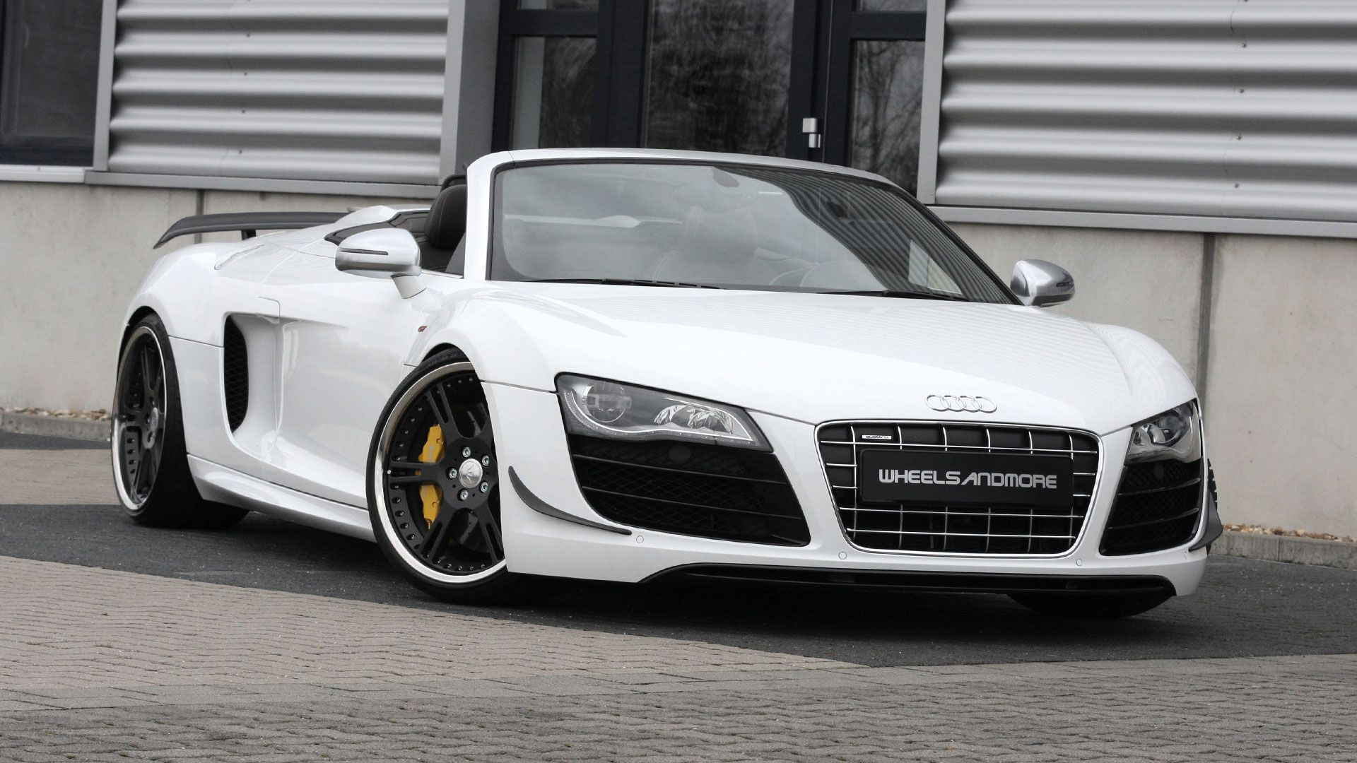 Audi r8 spyder matte white popular cars audir8 spydermate whiteaudi