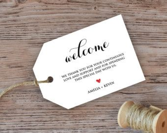 Printable Welcome Tag Hotel Welcome Tags Printable Welcome