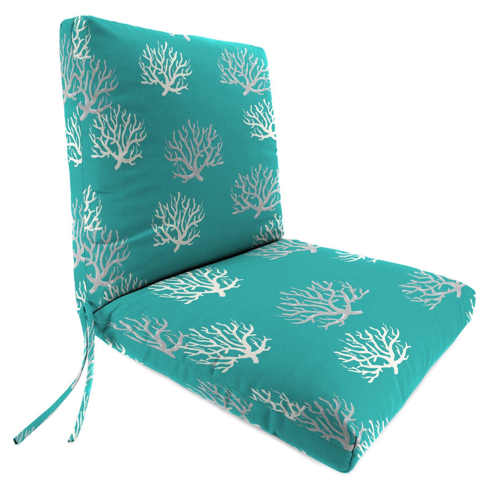 Jordan Manufacturing 40 In Hinged Outdoor Chair Cushion Isadella Ocean Jordan Manufacturing Outdoor Chair Cushions Chair Cushions