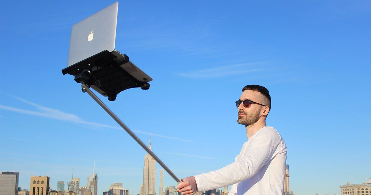 The Macbook Selfie Stick is Now a Thing