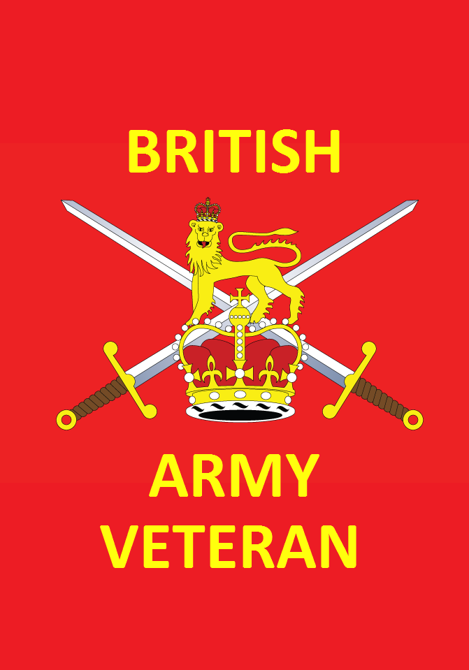 British Army Royal Logistics Corps Small Hand Waving Flag