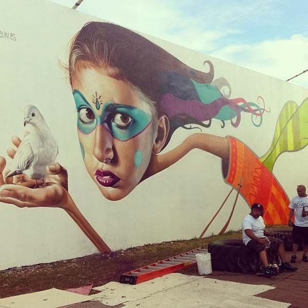 Belin in Miami, Florida, USA #belin #miami #streetart