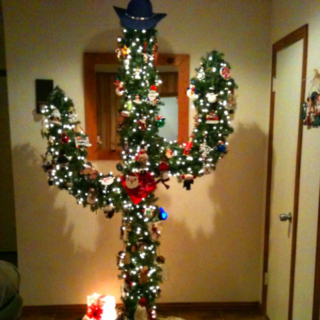 Cowboy Christmas Party Ideas Part - 20: Cactus Christmas Tree