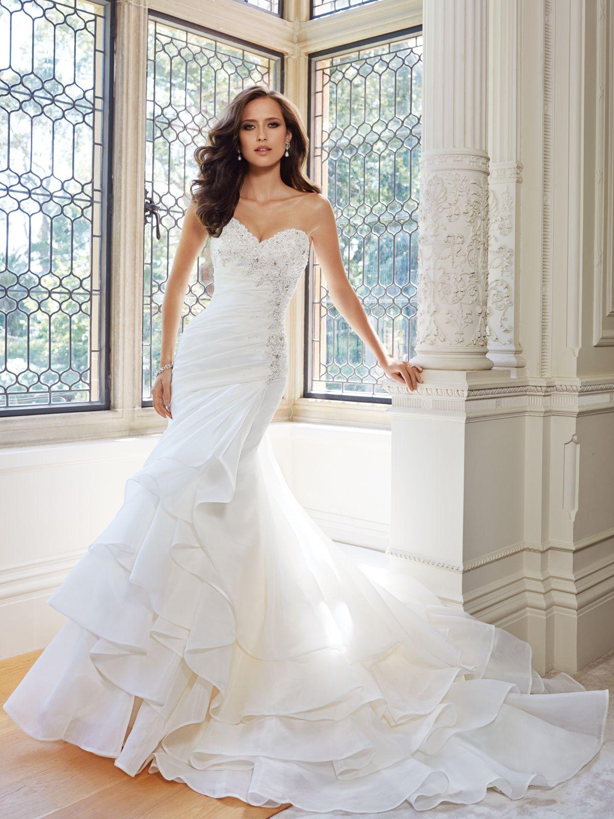Mermaid ruffle wedding dress  Wedding Dresses  Collection u Ruffles of fantasy organza are the