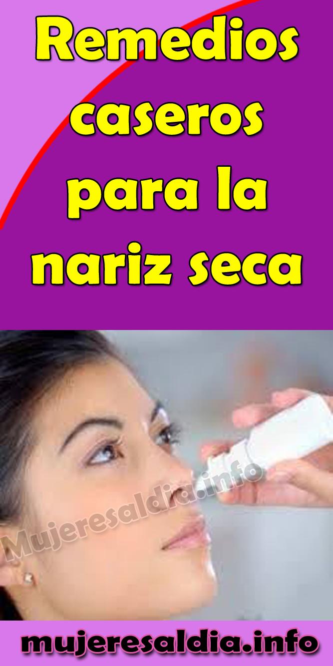 Nariz seca y remedio para el dolor de cabeza