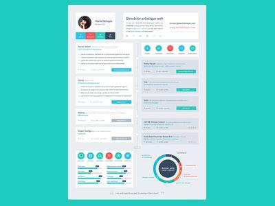 Resume Flat Design Timeline Resume styles, Design resume and - timeline resume
