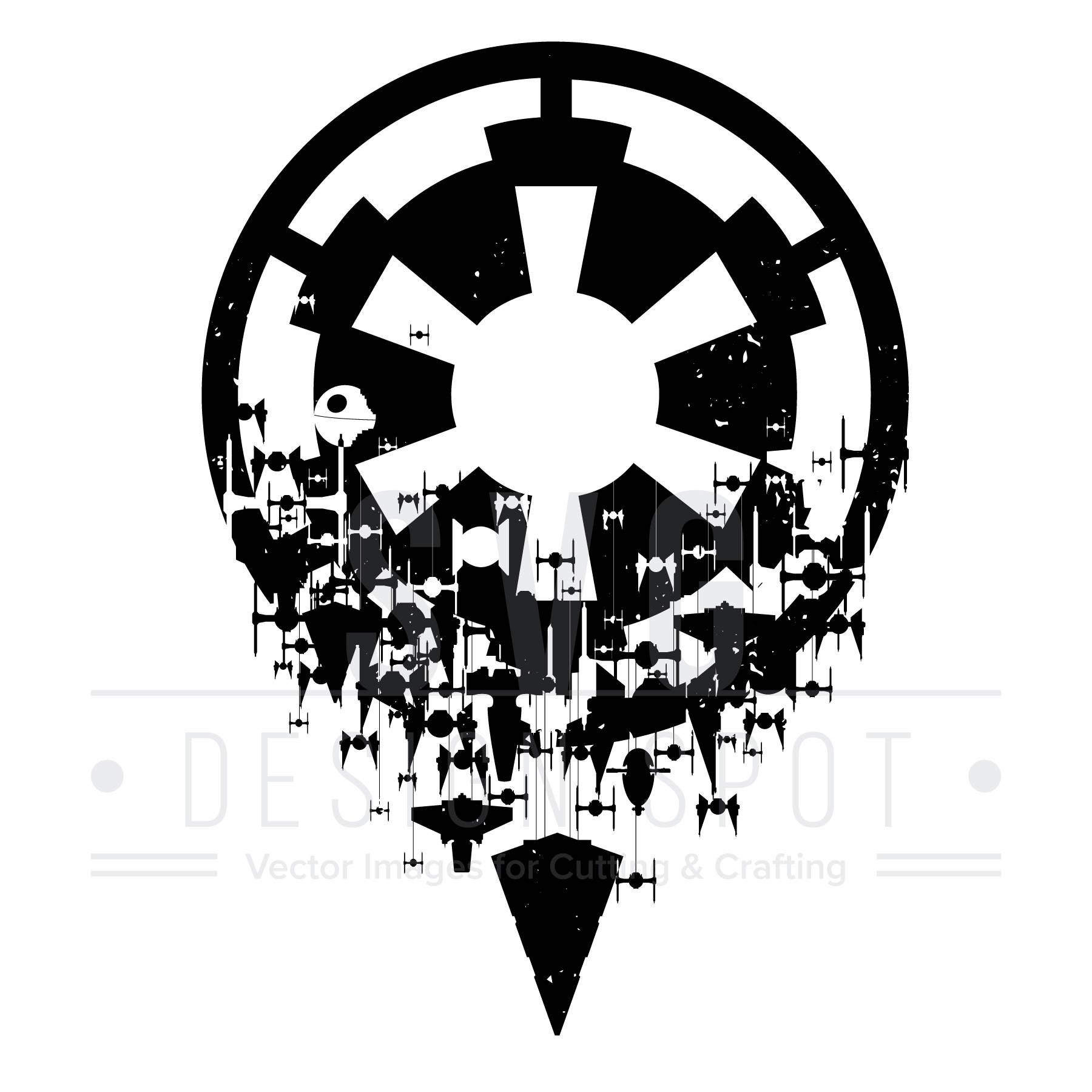 Pin By Svg Design Spot On Star Wars Svg Art Imperial Logo Cool
