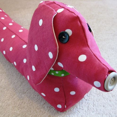 Free Sausage Dog Draught Excluder Sewing Pattern Make Your Own
