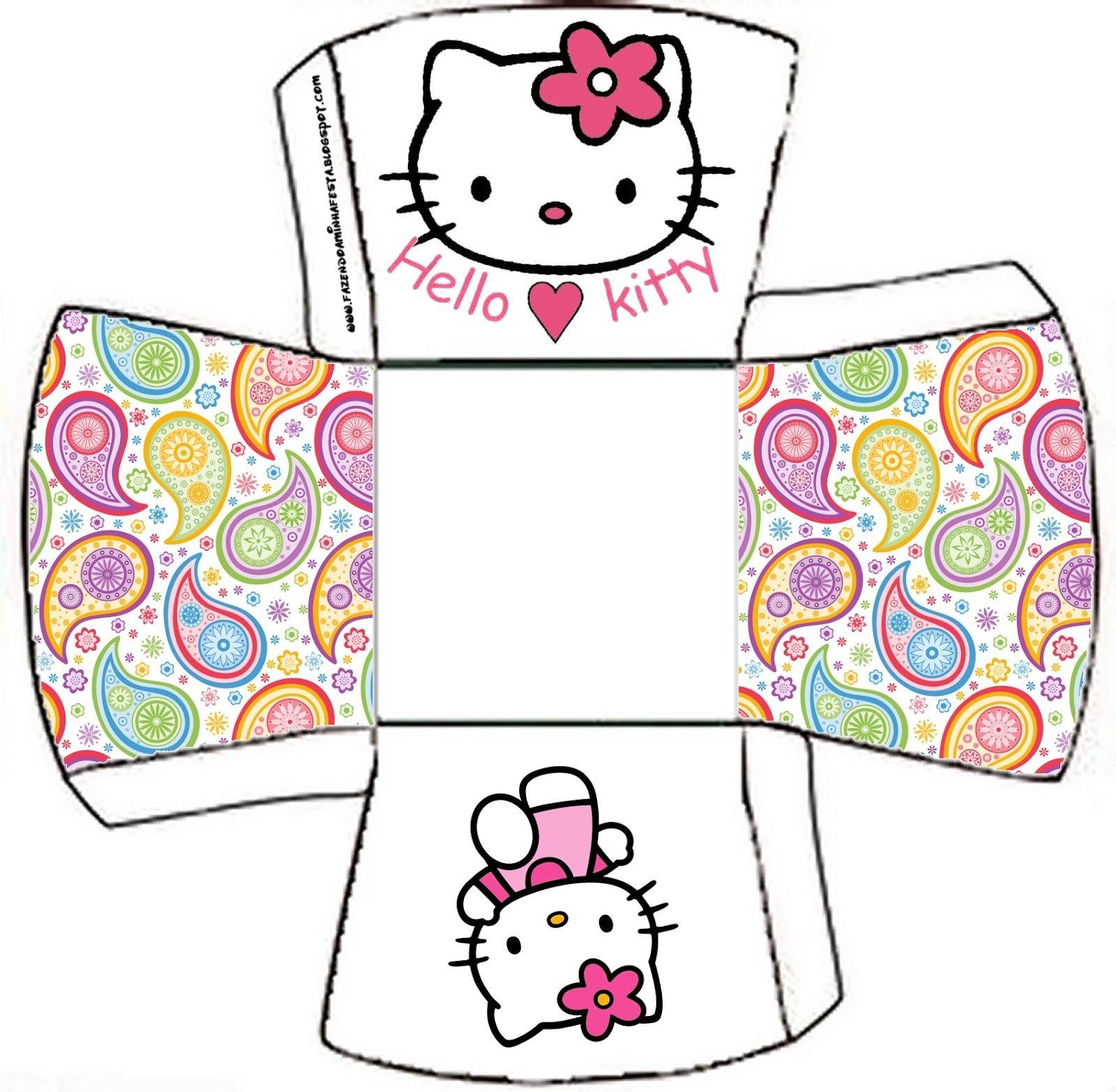 Hello kitty free printable boxes hello kitty for Hello kitty mask template
