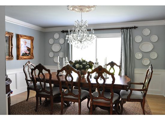 benjamin moore beach glass gray blue dining room paint color