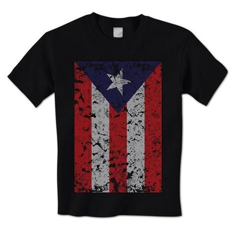 Distressed Puerto Rican Flag Pride Boricua San Juan Men/'s Tank Top